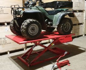 Motorbike Lift. Quad Bike Bench Lift. Ride on Mower Work Bench Hydraulic lift